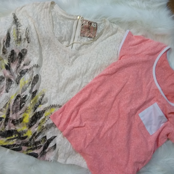 Charlotte Russe Tops - Set short sleeve shirts Wmns Sz Large